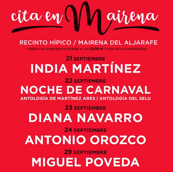 Festival musical cita en mairena for Telefono oficina seur mairena del aljarafe