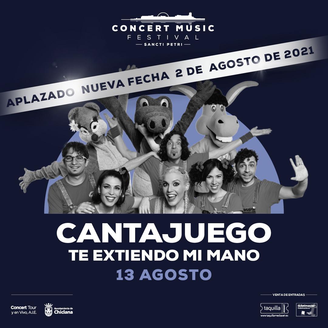 Se pospone para el próximo año el concierto que CantaJuego tenía previsto en Concert Music Festival. Nueva fecha 2 de agosto de 2021.