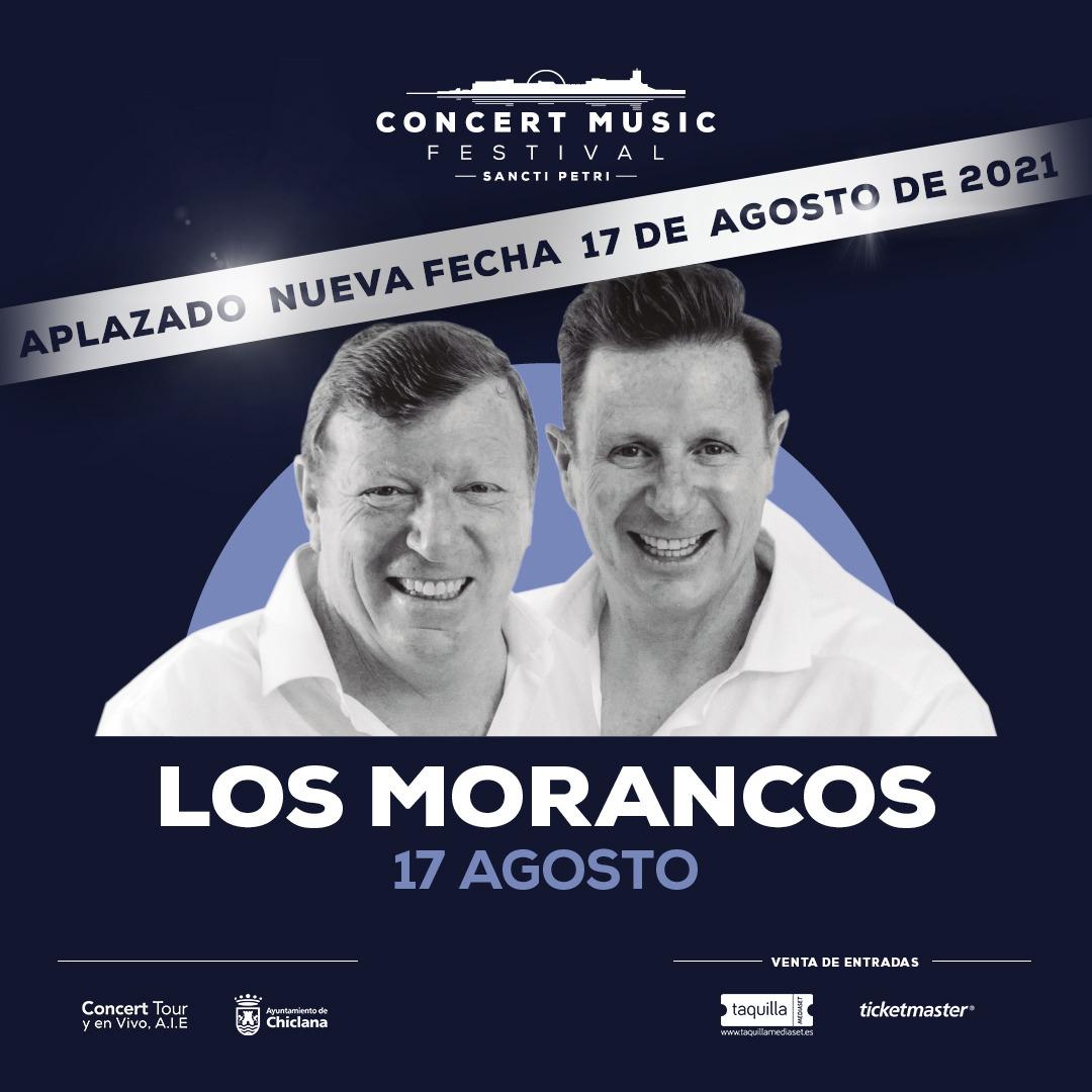 Aplazado el espectáculo de Los Morancos en Concert Music Festival al 17 de agosto de 2021