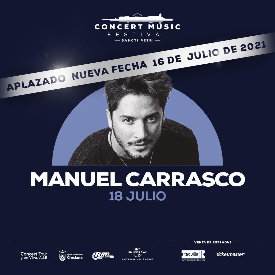 Manuel Carrasco aplaza su exitosa gira La Cruz del Mapa y confirma que actuará en Concert Music Festival en 2021