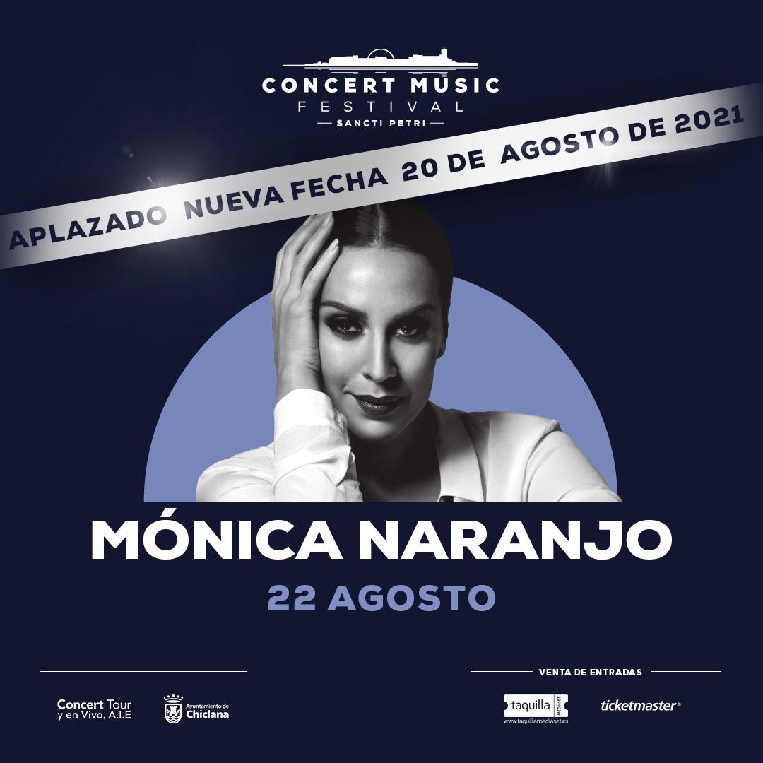 Mónica Naranjo aplaza su concierto en Concert Music Festival a 2021