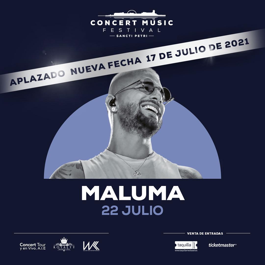 La gira 11:11 World Tour de Maluma en Europa se pospone para el próximo año. Nueva fecha en Concert Music Festival:17 de julio de 2021.