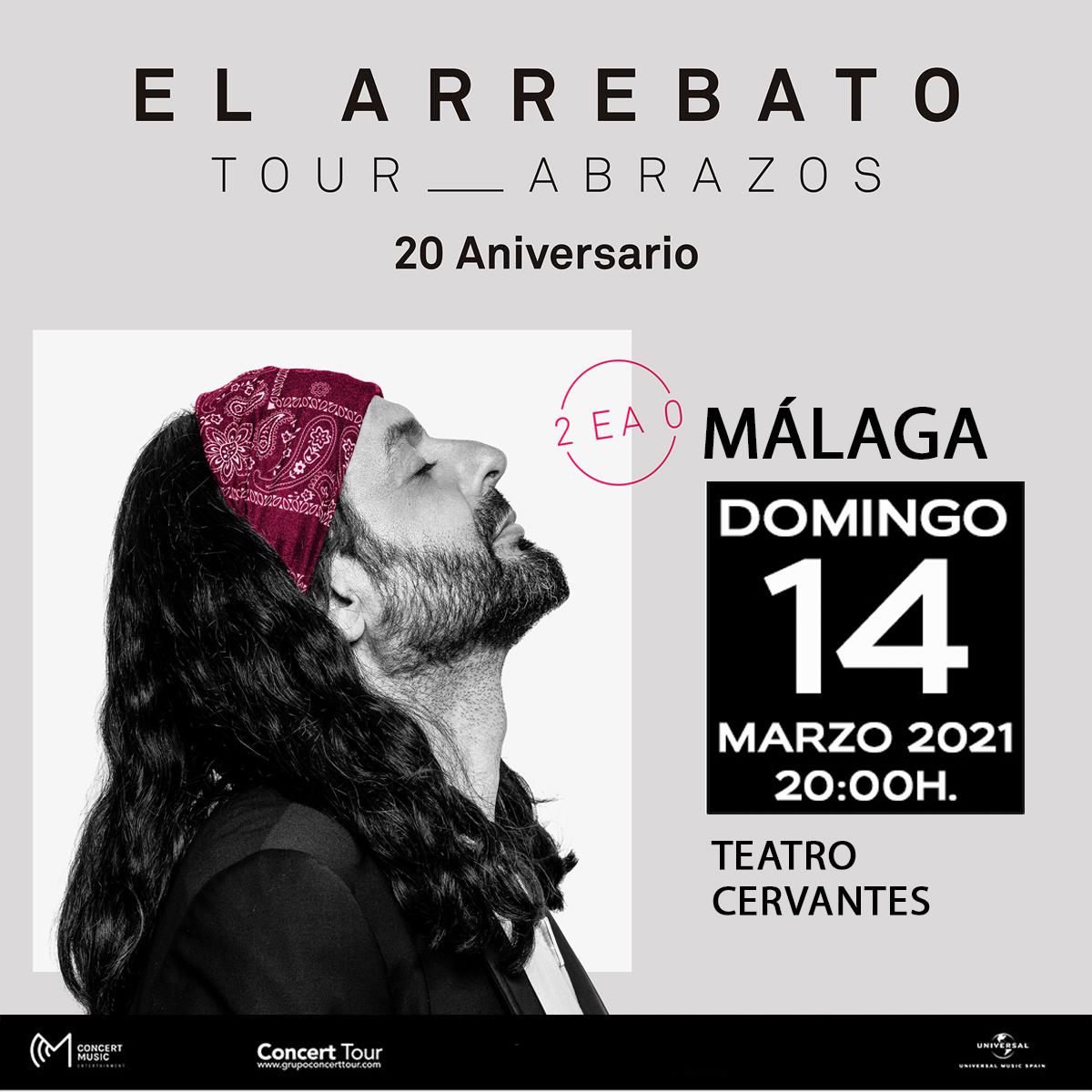 Aplazado el concierto de El Arrebato previsto para el 19 de septiembre en Málaga
