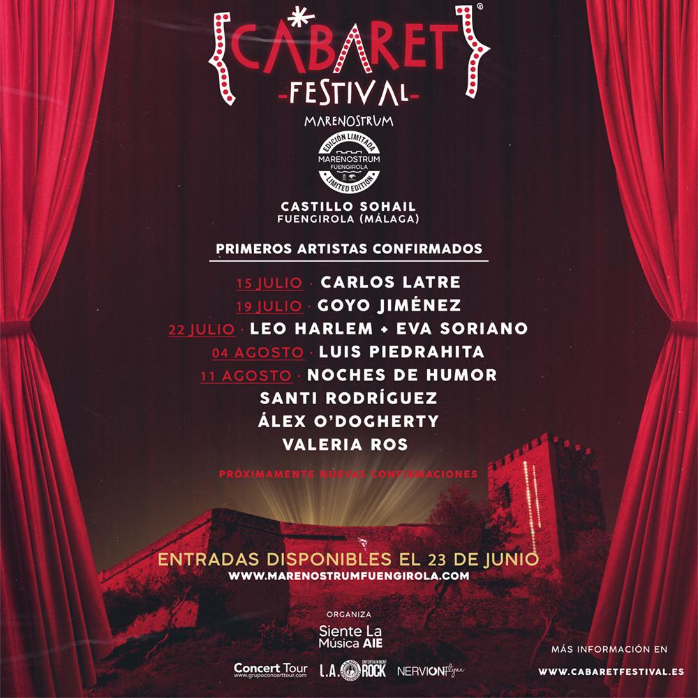 Cabaret Festival confirma su participación en Marenostrum Fuengirola Edición Limitada este verano