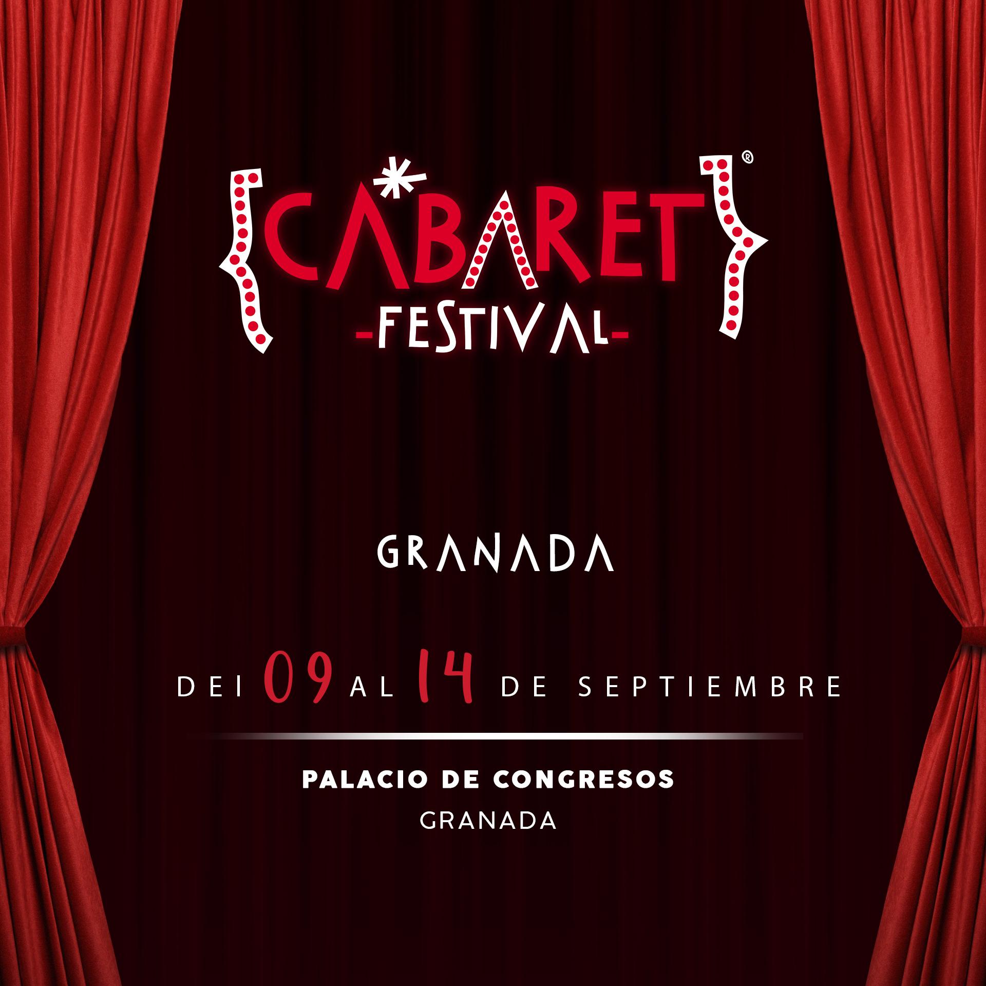 Cabaret Festival anuncia que hará una parada en Granada para llevar a su Palacio De Congresos un ciclo de espectáculos absolutamente completo y espectacular en el que el público podrá disfrutar de la mejor música, danza y comedia.
