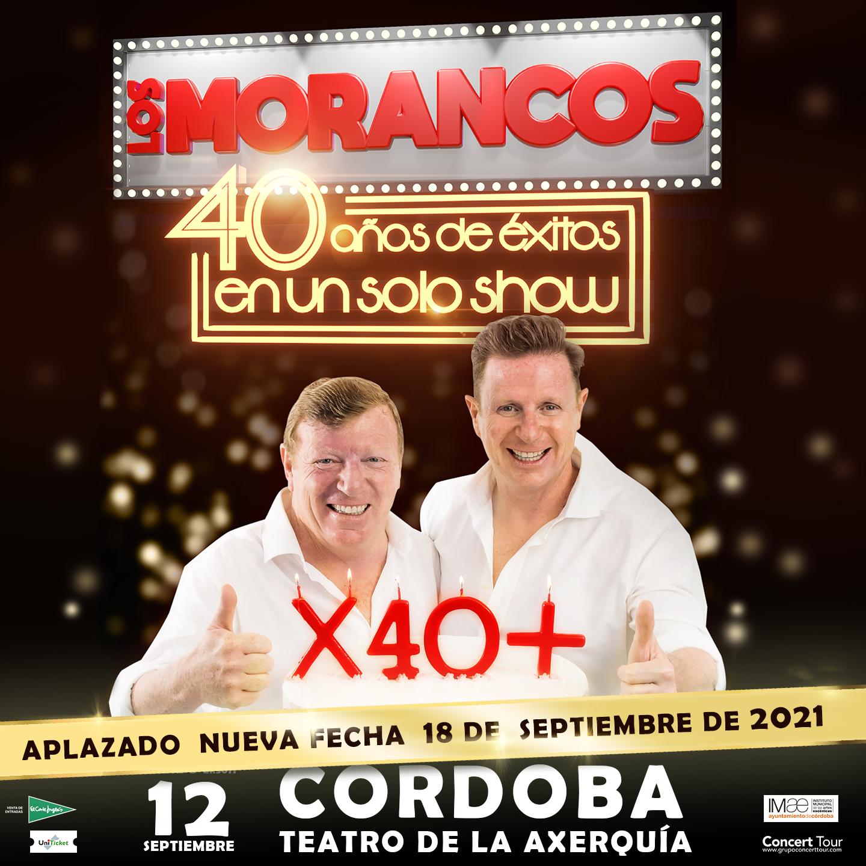 Aplazado el espectáculo de Los Morancos previsto para el 12 de septiembre en Córdoba