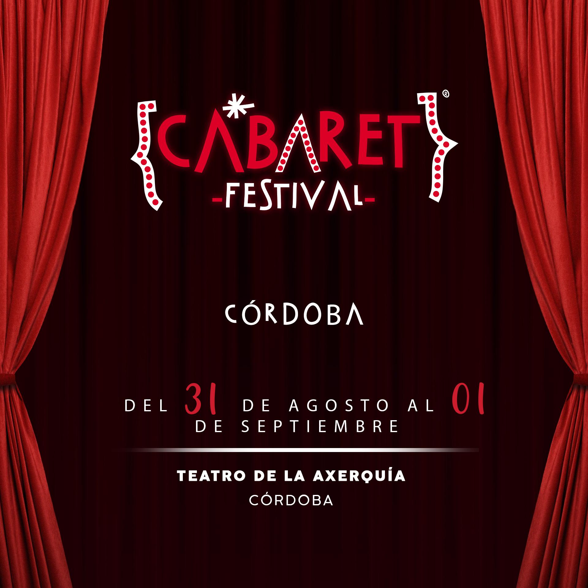 Cabaret Festival llevará a Córdoba los conciertos de Pablo López y Antonio José