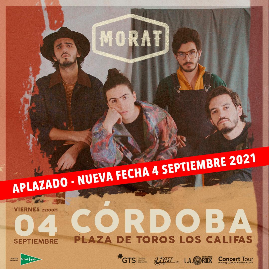 Morat aplaza su gira por España al próximo año y reprograma su concierto en Córdoba para el 4 de septiembre de 2021